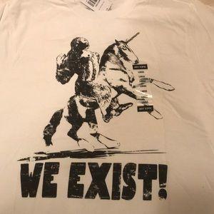 Black Matter Shirts - We Exist Tee Men's Sz L